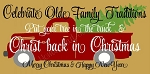 Celebrate Old Family Traditions Vintage Truck Overlay