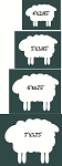 Prim Sheep Graphics Set