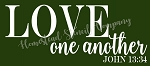 PRIMITIVE STENCIL ITEM #6762- Love one Another