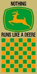 John Deere Checker Game Board