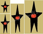 LARGE Star / pumpkin SET  Shapes -6