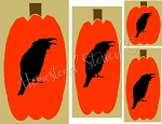 Large Pumpkin/Crow Set Shapes 6