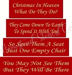 CHRISTMAS IN HEAVEN  4 pc BLOCK SET