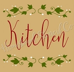 PRIMITIVE STENCIL ITEM #7487- Kitchen
