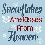 PRIMITIVE STENCIL - 2 pc OVERLAY ITEM  #7504- Snowflakes Are Kisses From Heaven
