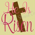 PRIMITIVE STENCIL - 2 pc OVERLAY ITEM  #7554- He Is Risen