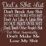 Dads Shit List