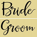 2 Pc Bride & Groom Set Each 6