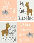 4 Pc You Are My Sunshine Set