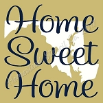 PRIMITIVE STENCIL - 2 pc OVERLAY ITEM  #7863- Home Sweet Home Maryland