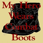 PRIMITIVE STENCIL - 2 pc OVERLAY ITEM  #7928- My Hero Wears Combat Boots