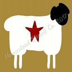 PRIMITIVE STENCIL ITEM #7939 - Sheep  with star