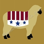 PRIMITIVE STENCIL ITEM #7943 - Americana Sheep  with star
