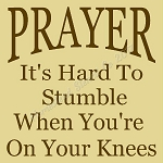 PRIMITIVE STENCIL ITEM #8010- Prayer It's Hard To Stumble When You're On Your Knees