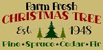ITEM 8119-  Farm Fresh Christmas Trees -Reusable Primitive Stencil For Signs - Make your own Wooden sign