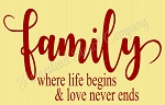 Family wher life begins and love never ends