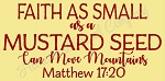 PRIMITIVE STENCIL ITEM #8426- Faith As Small As A Mustard Seed