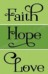 ITEM 8449-  3 Pc Set Faith - Hope - Love - Reusable Sign Stencils- Make your own wooden Signs