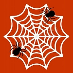 Spider  & Web Stencil -Fall Stencils- Reusable Stencil for wood signs- 8588