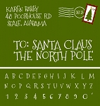 TO: Santa Claus  North Pole  letter alphabet & number set