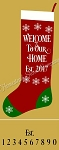 Christmas Stocking Welcome To Our Home + Est. and number set