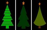 3 pc Christmas TREE Set