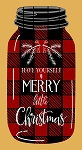 Buffalo Plaid Mason Jar Merry Christmas OVERLAY 6