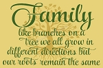 Family like branches on a tree 12