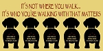 5 dogs- It's Not Where you Walk It's who you're walking with that matters - Leash