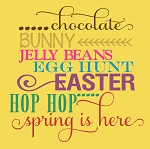 Chocolate Bunny Easter Jelly Bean