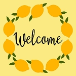 Lemon Welcome wreath