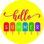 Hello Summer Door hanger