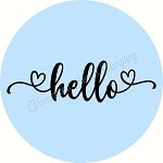 Hello with heart  Door hanger
