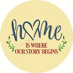 Home is where our story begins DOOR HANGER