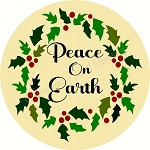 Peace On Earth Christmas DOOR HANGER