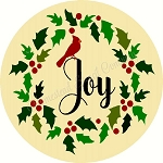 Joy Cardinal Christmas DOOR HANGER