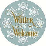 Winter Welcome snowflake  DOOR HANGER