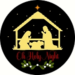 Oh Holy Night Door hanger