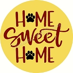 Home Sweet Home with Paws for Door Hanger