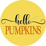Hello Pumpkins  for Door Hanger