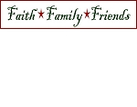 PRIMITIVE STENCIL ITEM #999- Faith Family Friends