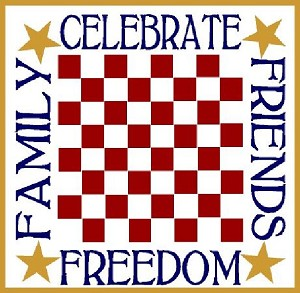 Celebrate, Friends, Family, Freedom