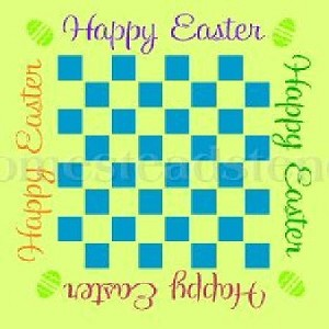 Happy Easter Checker Board