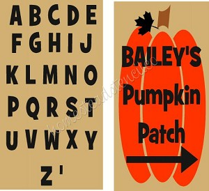 Pumpkin Alphabet Set With crow