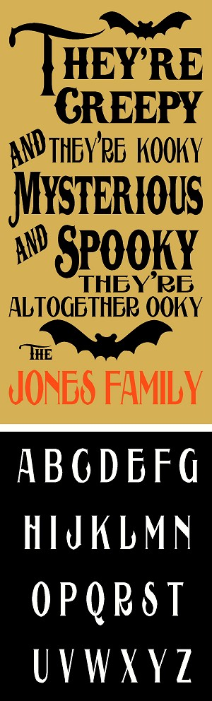 Spooky Family Set with Alphabets